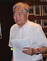 July 4th, 2011, Tokyo, Japan - Yotaro Hatamura, a professor emeritus at the University of Tokyo and an expert in the mechanism of failures, arrives for a news conference at the foreign press club in Tokyo on Monday, July 4, 2011. Hatamura chairs the Investigation and Verification Committee for the accident at Fukushima No. 1 power plant operated by the Tokyo Electric Co. It is widely understood that the utility company, TEPCO for short, and the Japanese government failed miserably in their attempts to bring the nuclear plant under control shortly after it was hit by the March 11 earthquake and ensuing tsunami. So, Japanese Prime Minister Naoto Kan turned to Hatamura to look into the cause of the accident and to come up with countermeasures in a bid to prevent a recurrence of such deadly crisis. (Photo by Natsuki Sakai/AFLO) [3615] -mis-...
