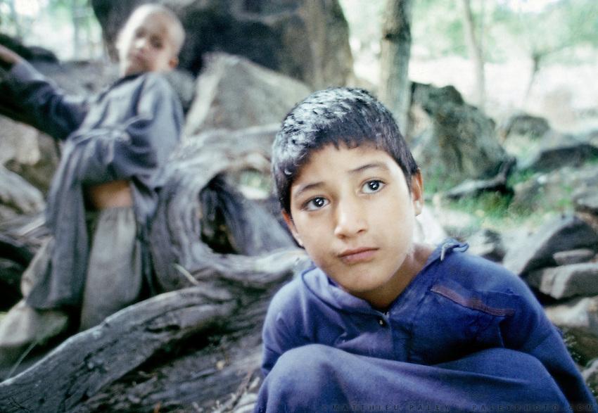 Young boy of Balti origin in the village of Kachura, in Baltistan province, Karakoram mountains. Pakistan.