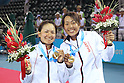 (L to R) Shuko Aoyama (JPN), Kotomi Takahata (JPN), AUGUST 20, 2011 - Tennis : The 26th Summer Universiade 2011 Shenzhen Women's Doubles Final at Tennis Court of Longgang Sports Center, Shenzhen, China. (Photo by YUTAKA/AFLO SPORT) [1040]
