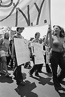 27 Jun 1971 --- Demonstrators carry signs during the second Gay Pride Parade in New York City. --- Image by © JP Laffont/Sygma/CORBIS