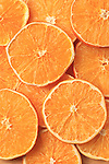 A field of Dried orange slices.