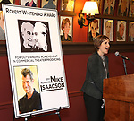 Kristin Caskey attends the The Robert Whitehead Award presented to Mike Isaacson at Sardi's on May 10, 2017 in New York City.