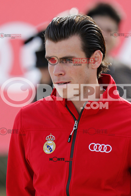 Gareth Bale participates and receives new Audi during the presentation of Real Madrid's new cars made by Audi in Madrid. December 01, 2014. (ALTERPHOTOS/Caro Marin) /Nortephoto