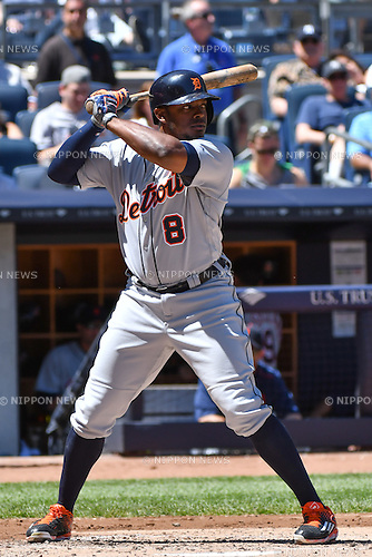 Justin Upton (Tigers),<br /> JUNE 12, 2016 - MLB :<br /> Justin Upton of the Detroit Tigers during the Major League Baseball game against the New York Yankees at Yankee Stadium in the Bronx, New York, United States. (Photo by Hiroaki Yamaguchi/AFLO)