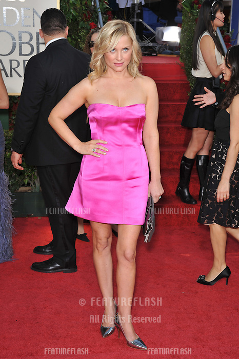 Jessica Capshaw at the 66th Annual Golden Globe Awards at the Beverly Hilton Hotel..January 11, 2009 Beverly Hills, CA.Picture: Paul Smith / Featureflash