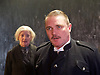 The Father <br /> by August Strindberg <br /> at Trafalgar Studios <br /> London, Great Britain <br /> press photocall <br /> 12th March 2015 <br /> <br /> <br /> Alex Ferns as Captain <br /> <br /> <br /> June Watson as Nurse <br /> <br /> <br /> <br /> <br /> Photograph by Elliott Franks <br /> Image licensed to Elliott Franks Photography Services