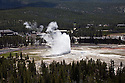 WY00576-00...WYOMING - Old Faithful Geyser in the Upper Geyser Basin of Yellowstone National Park.