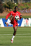 16 November 2008: Maryland's Kwame Darko. The University of Maryland defeated the University of Virginia 1-0 at WakeMed Stadium at WakeMed Soccer Park in Cary, NC in the men's ACC tournament final.