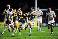 Ben Tapuai of Bath Rugby takes on the Harlequins defence. Aviva Premiership match, between Harlequins and Bath Rugby on November 27, 2016 at the Twickenham Stoop in London, England. Photo by: Patrick Khachfe / Onside Images