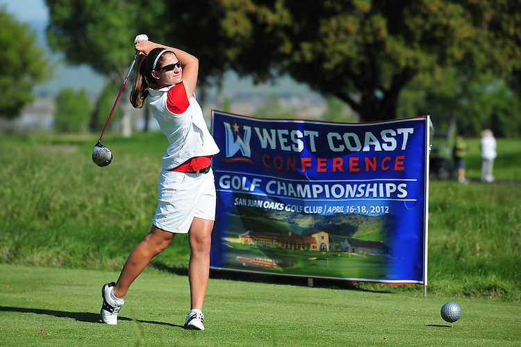 April 17, 2012; Hollister, CA, USA; Seattle Redhawks golfer Lori Pearson during the WCC Golf Championships at San Juan Oaks Golf Club.