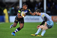 Semesa Rokoduguni of Bath Rugby goes on the attack. Aviva Premiership match, between Bath Rugby and Northampton Saints on December 5, 2015 at the Recreation Ground in Bath, England. Photo by: Patrick Khachfe / Onside Images