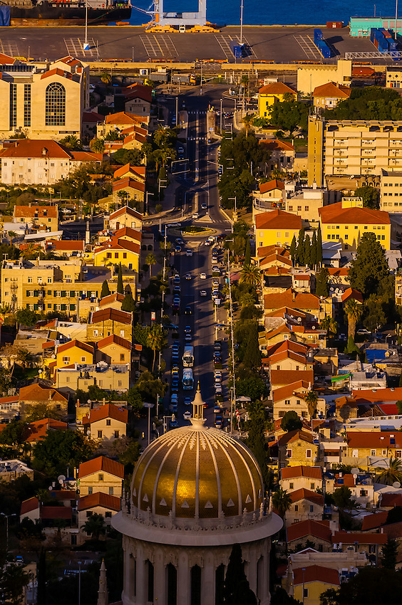 Baha'i Shrine. Haifa, Israel.