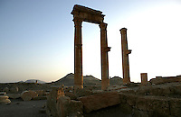 Three columns, Roman ruins, Palmyra, Syria Picture by Manuel Cohen