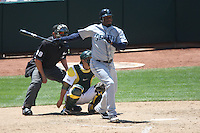 OAKLAND, CA - MAY 27:  Ken Griffey Jr. #24 of the Seattle Mariners bats against the Oakland Athletics during the game at Oakland-Alameda County Coliseum on May 27, 2009 in Oakland, California. Photo by Brad Mangin
