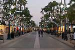 Picture of Third Street Promenade at dusk, City of Santa Monica, Los Angeles, California