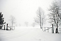 The Front Gate in the winter. 2007. ..Image from the book project Welcome Home: Building the Michigan Womyn's Music Festival, self-published First-Edition 2009...Photo by Angela Jimenez.copyright 2009 Angela Jimenez Photography