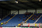 Oxford United 1 Accrington Stanley 2, 20/02/2016. Kassam Stadium, League Two. Oxford's home ground is the Kassam Stadium in Oxford and has a capacity of 12,500. United moved to the stadium in 2001 after leaving the Manor Ground, their home for 76 years. 119 supporters from Accrington celebrate. Photo by Simon Gill.