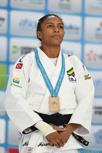 Erika Miranda (BRA), AUGUST 25, 2015 - Judo : World Judo Championships Astana 2015 Women's -52kg Medal Ceremony at Alau Ice Palace in Astana, Kazakhstan. (Photo by AFLO SPORT)