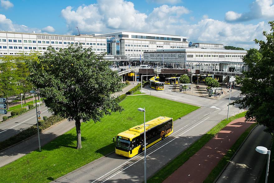 Nederland, Utrecht, 1 sept 2014<br /> UMC op De Uithof, de campus van de Universiteit van Utrecht. Universitair Medisch Centrum is het universiteitsziekenhuis van Utrecht.  <br /> Foto (c) Michiel Wijnbergh
