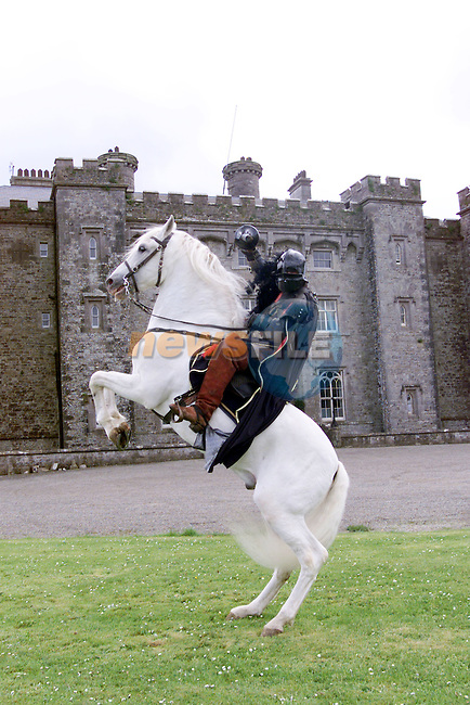 Rider Gerard Naprous practising for the Medievel Games at the Medievel Festival at Slane Castle on Sat 10 and Sun 11 May.Photo Fran Caffrey/Newsfile.ie..This picture has been sent to you by:.Newsfile Ltd,.3 The View,.Millmount Abbey,.Drogheda,.Co Meath..Ireland..Tel: +353-41-9871240.Fax: +353-41-9871260.GSM: +353-86-2500958.ISDN: +353-41-9871010.IP: 193.120.102.198.www.newsfile.ie..email: pictures@newsfile.ie..This picture has been sent by Fran Caffrey.francaffrey@newsfile.ie