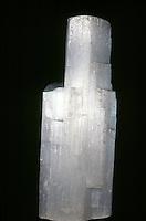 ULEXITE<br /> NaCaB5O9*8H2O<br /> Hydrous Sodium Calcium Borate.  Solid veins of parallel fibers, &quot;Television ore&quot;. Boron, CA.
