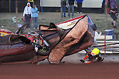 Heat 13: Woffinden (yellow) crashes out - Lakeside Hammers vs Wolverhampton Wolves - Sky Sports Elite League Speedway at Arena Essex Raceway, Purfleet - 24/05/10 - MANDATORY CREDIT: Gavin Ellis/TGSPHOTO - Self billing applies where appropriate - Tel: 0845 094 6026