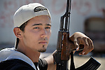 A rebel fighter in Misrata, Libya.