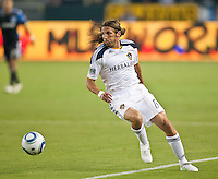 CARSON, CA – August 20, 2011: LA Galaxy defender Frankie Hejduk (6) during the match between LA Galaxy and San Jose Earthquakes at the Home Depot Center in Carson, California. Final score LA Galaxy 2, San Jose Earthquakes 0.