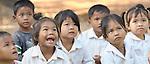 Children in a preschool sponsored by the Cambodian Children's Advocacy Foundation in Khnach, a village in the Kampot region of Cambodia.