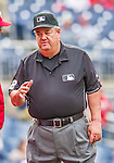 21 May 2014: MLB Umpire Joe West works a game between the Cincinnati Reds and the Washington Nationals at Nationals Park in Washington, DC. The Reds edged out the Nationals 2-1 to take the rubber match of their 3-game series. Mandatory Credit: Ed Wolfstein Photo *** RAW (NEF) Image File Available ***