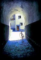 Bicycle in Pedestrian Tunnel Chur Switzerland
