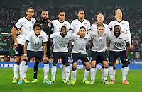 VIENNA, Austria - November 19, 2013: USA team group during the international friendly match between Austria and the USA at Ernst-Happel-Stadium.