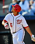 4 March 2012: Washington Nationals infielder Anthony Rendon in action against the Houston Astros at Space Coast Stadium in Viera, Florida. The Astros defeated the Nationals 10-2 in Grapefruit League action. Mandatory Credit: Ed Wolfstein Photo