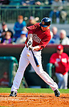 4 March 2010: Houston Astros outfielder Brian Bogusevic connects for a double during the Astros' Grapefruit League Opening Day game against a Washington Nationals' split squad at Osceola County Stadium in Kissimmee, Florida. The Astros defeated the Nationals 15-5 in Spring Training action. Mandatory Credit: Ed Wolfstein Photo