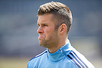 BRONX, NY - Wednesday, March 25, 2015: Expansion team New York City FC practices at their home field Yankee Stadium during the 2015 MLS regular season.