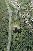 Rueckhaltebecken K80: EUROPA, DEUTSCHLAND, SCHLESWIG- HOLSTEIN, REINBEK, (GERMANY), 22.09.2010:Rueckhaltebecken an der K 80, Rueckhaltebecken, Wasserbau, Luftbild, Air, .. c o p y r i g h t : A U F W I N D - L U F T B I L D E R . de.G e r t r u d - B a e u m e r - S t i e g 1 0 2, 2 1 0 3 5 H a m b u r g , G e r m a n y P h o n e + 4 9 (0) 1 7 1 - 6 8 6 6 0 6 9 E m a i l H w e i 1 @ a o l . c o m w w w . a u f w i n d - l u f t b i l d e r . d e.K o n t o : P o s t b a n k H a m b u r g .B l z : 2 0 0 1 0 0 2 0  K o n t o : 5 8 3 6 5 7 2 0 9.V e r o e f f e n t l i c h u n g n u r m i t H o n o r a r n a c h M F M, N a m e n s n e n n u n g u n d B e l e g e x e m p l a r !.