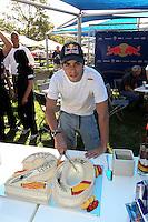 F1 GP of Australia, Melbourne 26. - 28. March 2010.Jaime Alguersuari (ESP), Scuderia Toro Rosso - 20 Years birthday celebration..Picture: Hasan Bratic/Universal News And Sport (Europe) 26 March 2010.