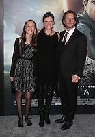 "Westwood, CA - NOVEMBER 06: Kristin Ryder,Aaron Ryder and Daughter at Premiere Of Paramount Pictures' ""Arrival"" At Regency Village Theatre, California on November 06, 2016. Credit: Faye Sadou/MediaPunch"