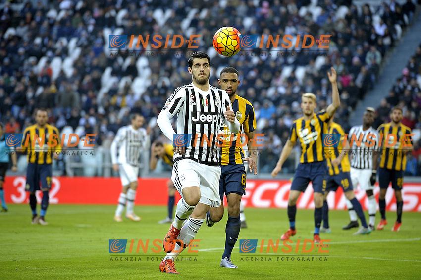 Alvaro Morata Juventus,<br /> Torino 06-01-2016, Juventus Stadium, Football Calcio 2015/2016 Serie A, Juventus - Verona, Foto Filippo Alfero/Insidefoto