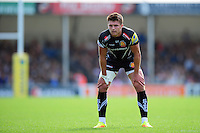 Henry Slade of Exeter Chiefs looks on. Aviva Premiership match, between Exeter Chiefs and Saracens on September 11, 2016 at Sandy Park in Exeter, England. Photo by: Patrick Khachfe / JMP