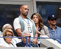 FLUSHING NY- SEPTEMBER 05: Boris Kodjoe and Nicole Ari Parker are seen watching Venus Williams Vs Pliskova on Arthur Ashe Stadium at the USTA Billie Jean King National Tennis Center on September 5, 2016 in Flushing Queens. Credit: mpi04/MediaPunch