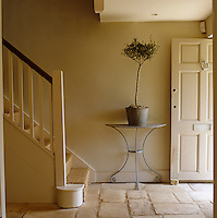 The old flagstones in the entrance hall of this 18th-century house were quarried locally