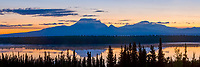 From left to right: Mount Drum, Sanford, Wrangell of the Wrangell mountain range, Wrangell St. Elias National Park, Alaska.