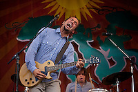 Ben Harper of Ben Harper and the Relentless 7 performing on the Acura stage at the New Orleans Jazz and Heritage Festival at the New Orleans Fair Grounds Race Course in New Orleans, Louisiana, USA, 30 April 2009.