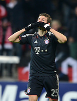 FUSSBALL   CHAMPIONS LEAGUE   SAISON 2012/2013   GRUPPENPHASE   FC Bayern Muenchen - FC Bate Borisov              05.12.2012 Jubel nach dem Tor zum 2:0 Thomas Mueller (FC Bayern Muenchen)