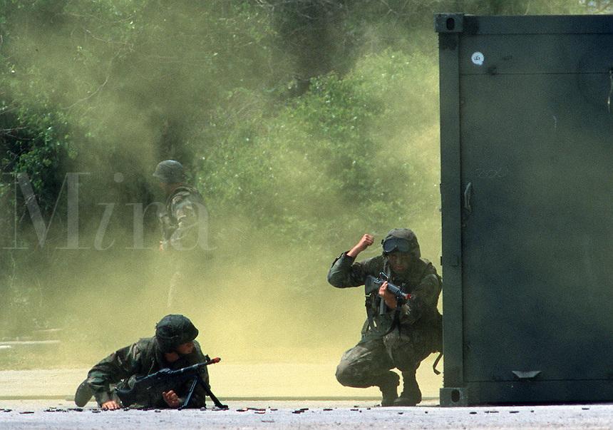 U.S. Marines assault and rescue operation, Camp Lejeune, North Carolina..
