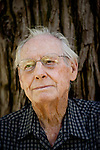 Painter Wayne Thiebaud poses for a portrait in Capitol Park near his Sacramento, Calif. studio September 22, 2010.