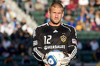 LA Galaxy Goal Keeper Josh Saunders (12).  The LA Galaxy defeated Boca Juniors 1-0 at Home Depot Center stadium in Carson, California on Sunday May 23, 2010.  .