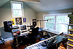Emily Saliers, best known for being one half of the folk rock band the Indigo Girls, has a two-bedroom home in Decatur, Georgia. Her studio complete with keyboards and guitars, seen June 14, 2010...CREDIT: Kendrick Brinson/LUCEO.EmilySaliers