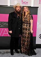Chris Stapleton &amp; Morgane Stapleton at the Academy of Country Music Awards 2017 at the T-Mobile Arena, Las Vegas, NV, USA 02 April  2017<br /> Picture: Paul Smith/Featureflash/SilverHub 0208 004 5359 sales@silverhubmedia.com